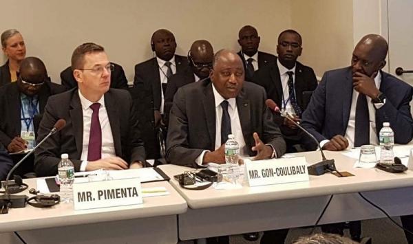 Gon Coulibaly salue l'engagement de la BM et de la BAD à soutenir l'industrie cacaoyère en Côte d'Ivoire et au Ghana