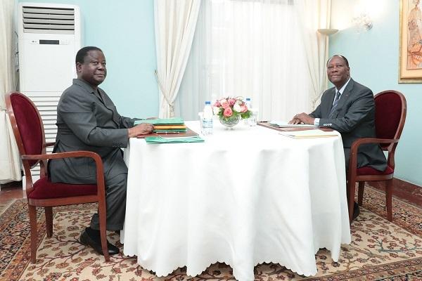 Côte d'Ivoire : Ouattara et Bédié scellent le principe de la création du parti unifié RHDP