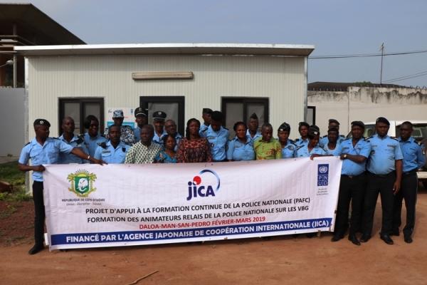 Côte d'Ivoire : Les policiers deviennent animateurs relais sur les violence basées sur le genre