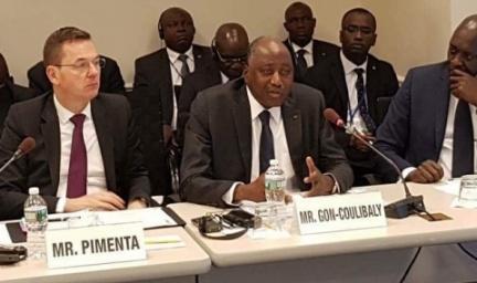 Gon Coulibaly salue l'engagement de la BM et de la BAD à Soutienenir l'industrie cacaoyère en Côte d'Ivoire et au Ghana