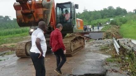 Côte d'Ivoire : Des travaux en cours pour rétablir la circulation entre N'douci et Divo