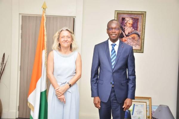 Lutte contre la corruption : le ministre Zoro Epiphane Ballo échange avec l'Ambassadeur de suisse en côte d'ivoire